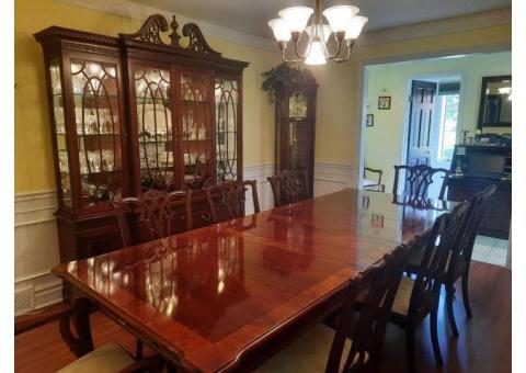 American Drew mahogany dining room set